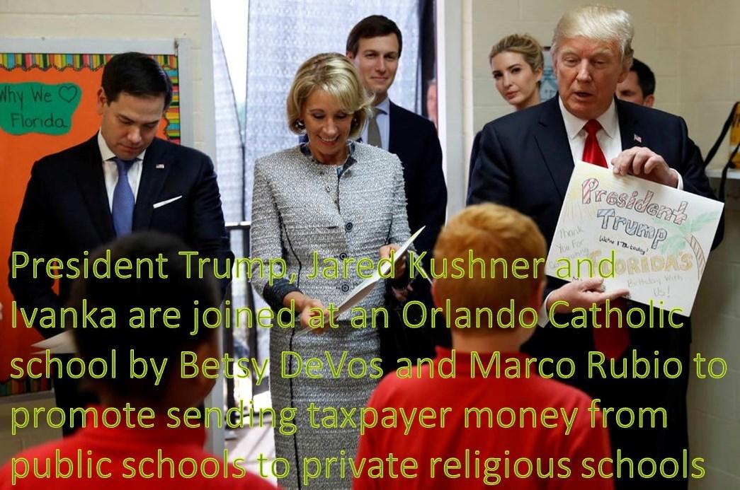 Trump DeVos Rubio in Florida