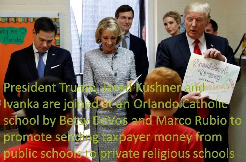 Trump DeVos Rubio in Florida