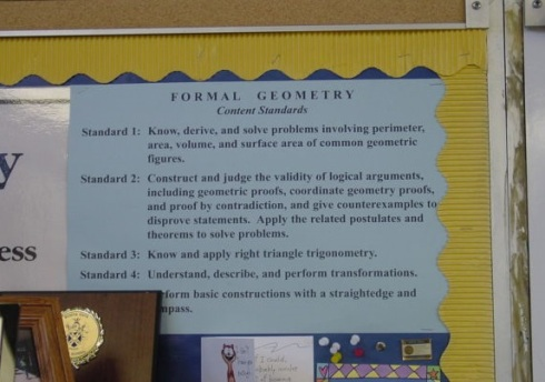 Geometry Standards Posted