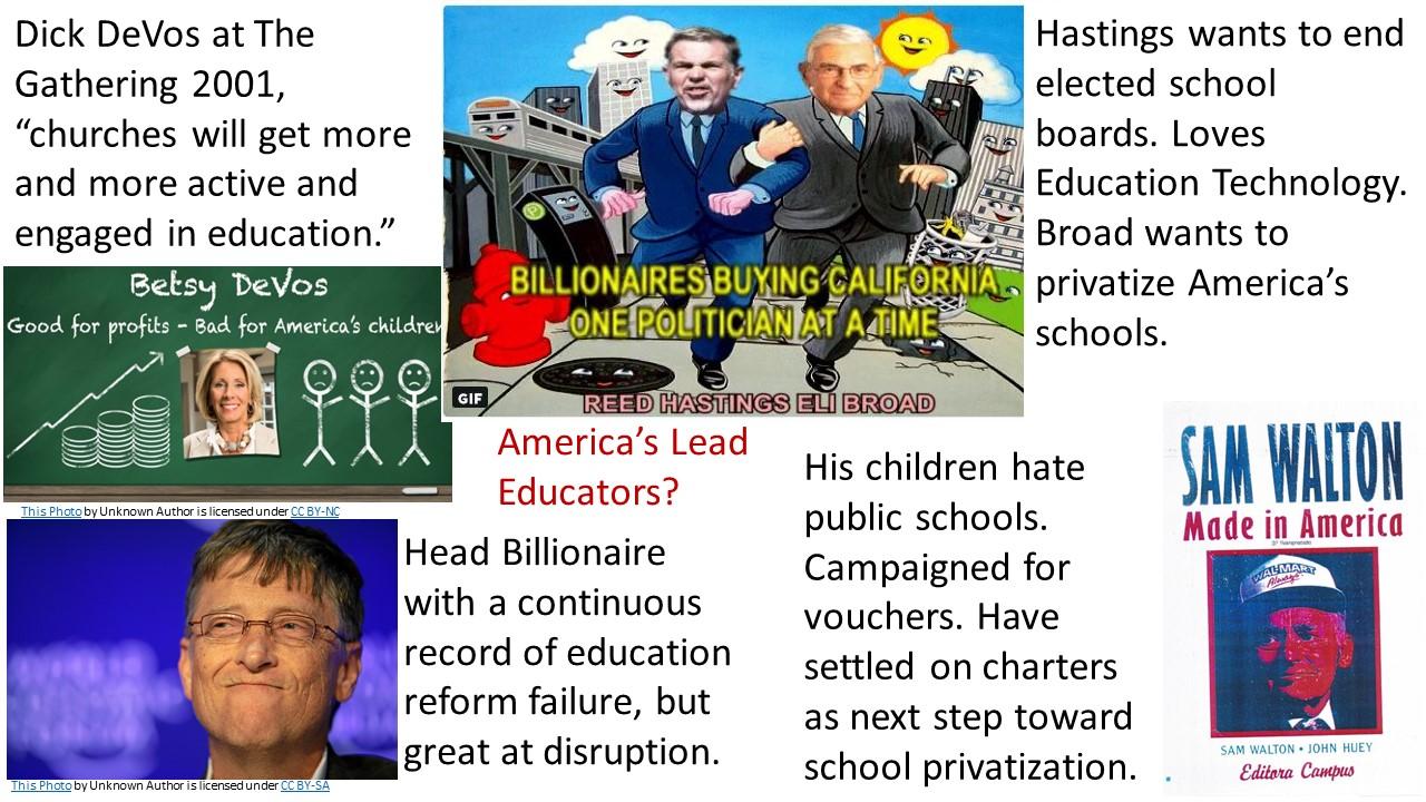 Billionaires Fixing Education